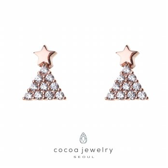 Korea Cocoa Jewelry My Holy Christmas - Anting Rose Gold - No Box