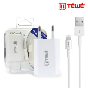 TEWE TRAVEL CHARGER TYPE FOXCON FOR IPHONE
