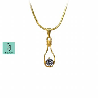 BE.JUU Kalung Treasure In A Bottle Titanium Gold Plated Korean Jewelry
