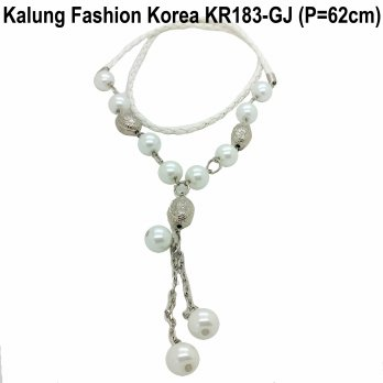 Kalung Fashion Korea Statement Necklace Murah Cantik KR183-GJ