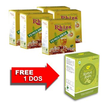 Jamu IBOE Rhiza Orange 5 dos @5 sachet