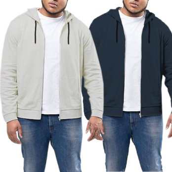 Jfashion Big Size Jaket Hoodie with Zipper - Vin / Jaket Hoodie Proa Plus Size / Pakaian Pria