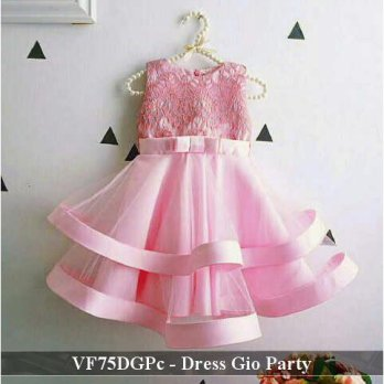dress anak murah |  VF75DGPc - Dress gio party  fit 3 -5 tahun