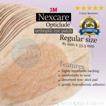3M Nexcare Eye Patch Opticlude Penutup Mata Dewasa @20
