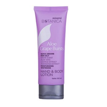 MINERAL BOTANICA Hand and Body Lotion Aloe Grape Bursts 100ml