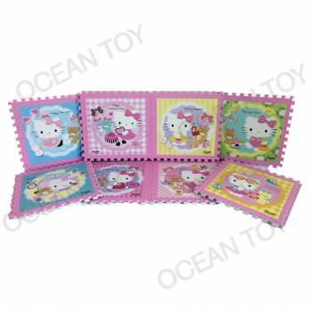 Ocean Toy Evamats Hello Kitty Ukuran 30 x 30 cm Isi 8pcs