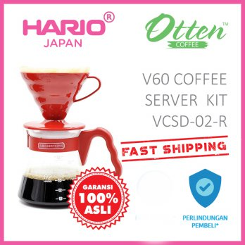 Hario V60 Coffee Server Set VCSD-02-R Red