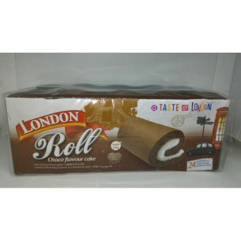 London roll isi 24pc choco flavour cake bolu gulung rasa coklat