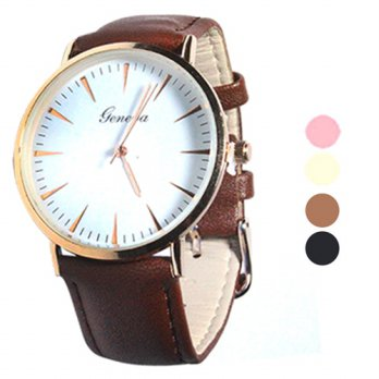 Jam Tangan Wanita Fashion | STRAP Leather | 4 Pilihan Warna | (FIN-24)
