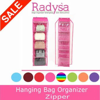 RADYSA Hanging Bag Organizer with Zipper (HBOZ) / Rak Tas Gantung Resleting