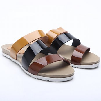 Dr.Kevin Women Flat Sandals Pu Leather 27333 Combination
