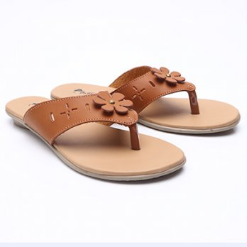 Dr.Kevin Women Flat Sandals Leather 27283 Tan