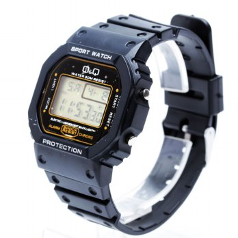 Jam Tangan Pria Digital Q&Q Sporty FIN-32 (PROTECTION)
