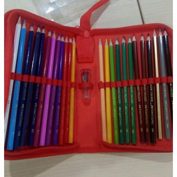 PENSIL WARNA / COLOUR PENCIL SET FABER CASTELL 24 WARNA NEW PRODUCT