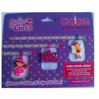 Girlie Girlz TM3331c Double Side Charm for Pen/Pencil