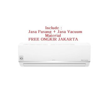 PROMO AC LG DUAL COOL SMART 1 PK E-10SV3 FREON R-32. 655 WATT