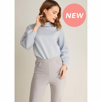 LAIQA Luna Grey Blouse
