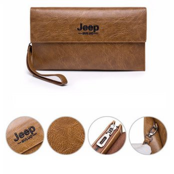 W06 Classic Leather Jeep Buluo Wallet 1717 / Dompet Pria Wanita