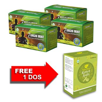 Jamu IBOE Tujuh Angin Mint Cair Herbal Supplement 4 dos @10 sachet
