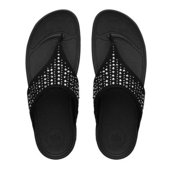 FitFlop Womens Novy Slippers (Black)