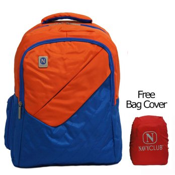 Navy Club Tas Ransel Laptop Kasual 3267 Tas Pria Tas Wanita - Tas Laptop Backpack Up to 15 inch Bonus Bag Cover