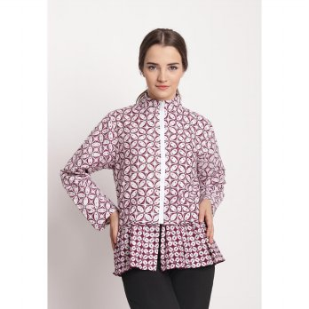 Alliya Jacket Batik-Purple