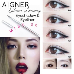 [ SILVER ] Aigner Silver Lining Eyeshadow  Eyeliner 2in1 Pencil