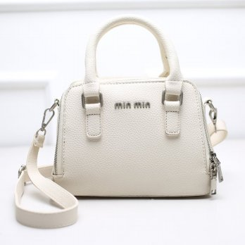 Tas Wanita Handbags Shoulder Ransel Import GT21424 Rice White
