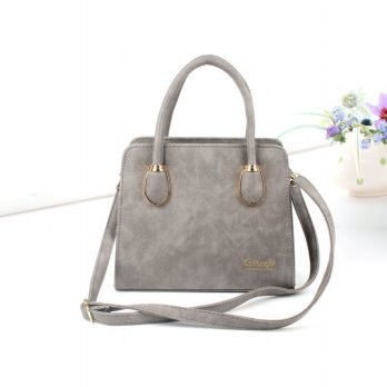 Tas Wanita Handbags Shoulder Ransel Import GT21357SN Gray