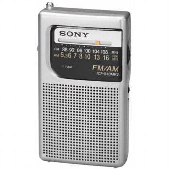 [holiczone] Sony ICF-S10MK2 Pocket AM/FM Radio, Silver/271236
