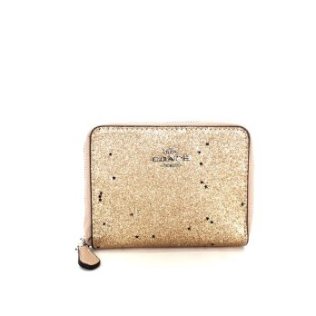 Coach Boxed Small Wallet With Glitter - Gold