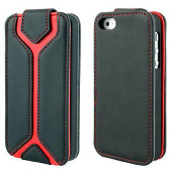 [holiczone] Aleratec iPhone 5S / 5 Leather Flip Case Folio Wallet Credit Card Holder Black/158866