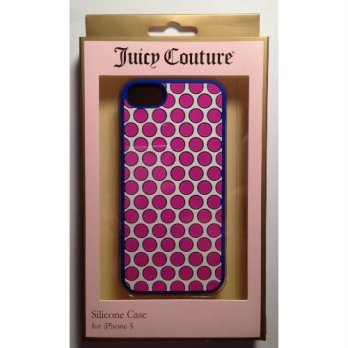 [holiczone] Juicy Couture Polka Dot Silicone Case Cover For Apple iPhone 5/232583