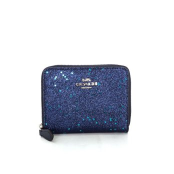 Coach Boxed Small Wallet With Glitter - Navy