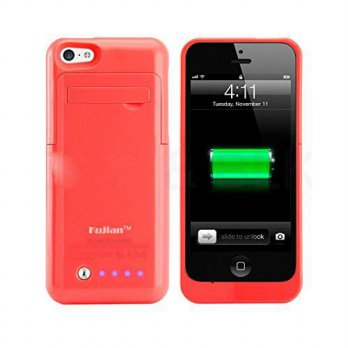 [holiczone] Kujian iPhone 5s Charger Case Backup Power Bank with Kick Stand Holder Portabl/221207