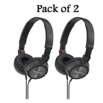 [holiczone] Sony MDRZX100/BLK ZX Series Stereo Headphones (2 Pack, Black)/234181