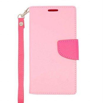[holiczone] ATOM Kyocera Hydro Wave C6740 - Hot Pink and Light Pink PU Leather Wallet Pouc/1670709