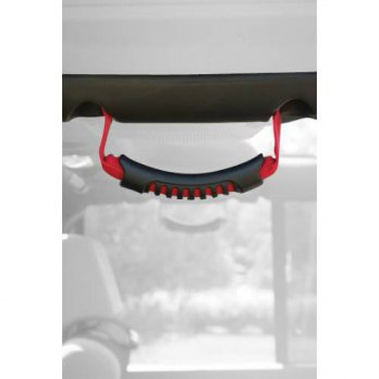 [macyskorea] Rugged Ridge 13305.15 Red Windshield Pillar Rear Side Grab Handle - Pair/12376074
