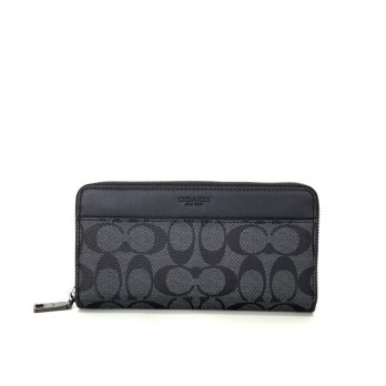 Coach Accordion Wallet in Signature - Grey With Signature