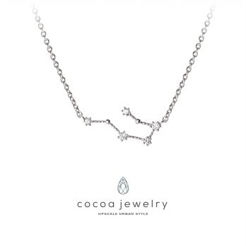 Cocoa Jewelry Kalung Gemini Star Silver color