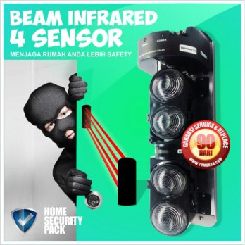 Beam 4 (Quad) Sensor 250m (Outdoor Range), Wired, Murah
