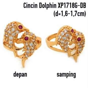 XP1718G-DB Cincin Perhiasan Lapis Emas Xuping Yaxiya Gold