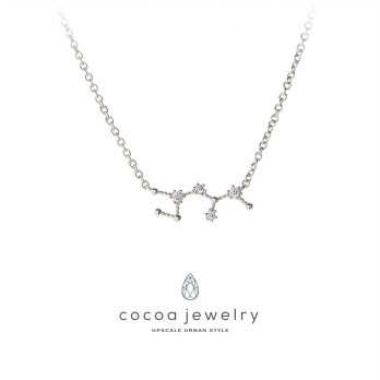 Cocoa Jewelry Kalung Sagitarius Star Silver Color- No Box