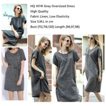 Grey Oversized Dress (size S,M,L) -14741