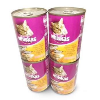 Whiskas Cat Food kaleng 400 gr - 4 kaleng / Makanan Kucing/Petfood/Wet Food