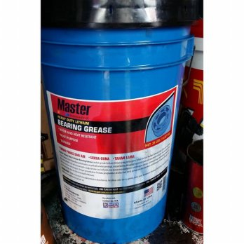 MASTER Heavy Duty Lithium Bearing Grease Gemuk PAIL 16 KG MADE IN USA ORIGINAL