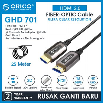 ORICO Cable HDMI 2.0 Fiber-optic High Speed - 25M - GHD701-250