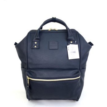 Anello Original Backpack PU Leather Medium - Dongker