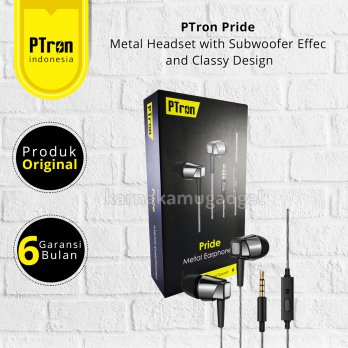 PTron Pride Headset Subwoofer with Subwoofer Effec with Classy Design