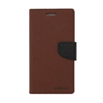 Mercury Fancy Diary Sony Xperia Z3 Mini M55W - Coklat/Hitam
